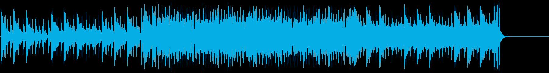 ドラマ風オープニングテーマのポップの再生済みの波形