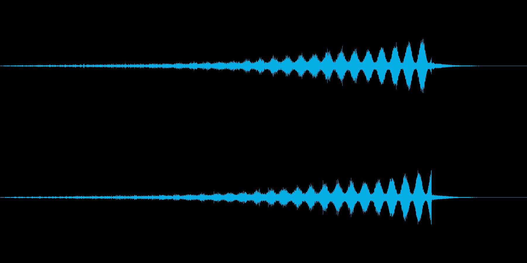 シュ〜(EDMなんかでよく聞く上昇音)の再生済みの波形