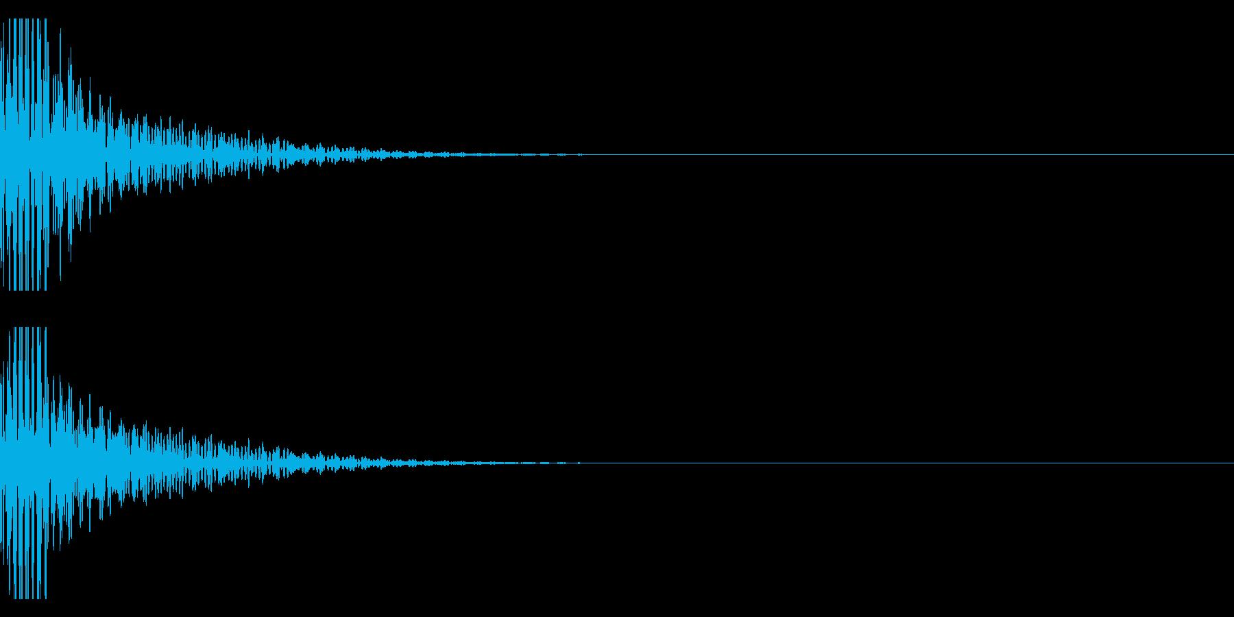 クリエイター向け!EDMバスドラム1Aの再生済みの波形