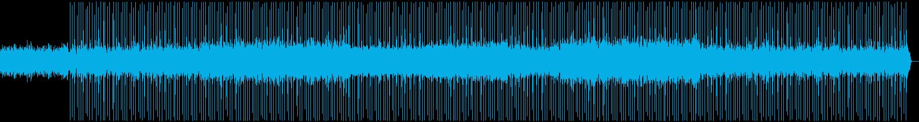 冬を感じる静かでゆったりした曲の再生済みの波形