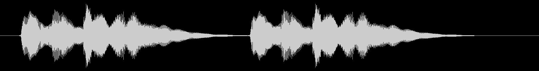 ニュース アラート03-4(遠い)の未再生の波形