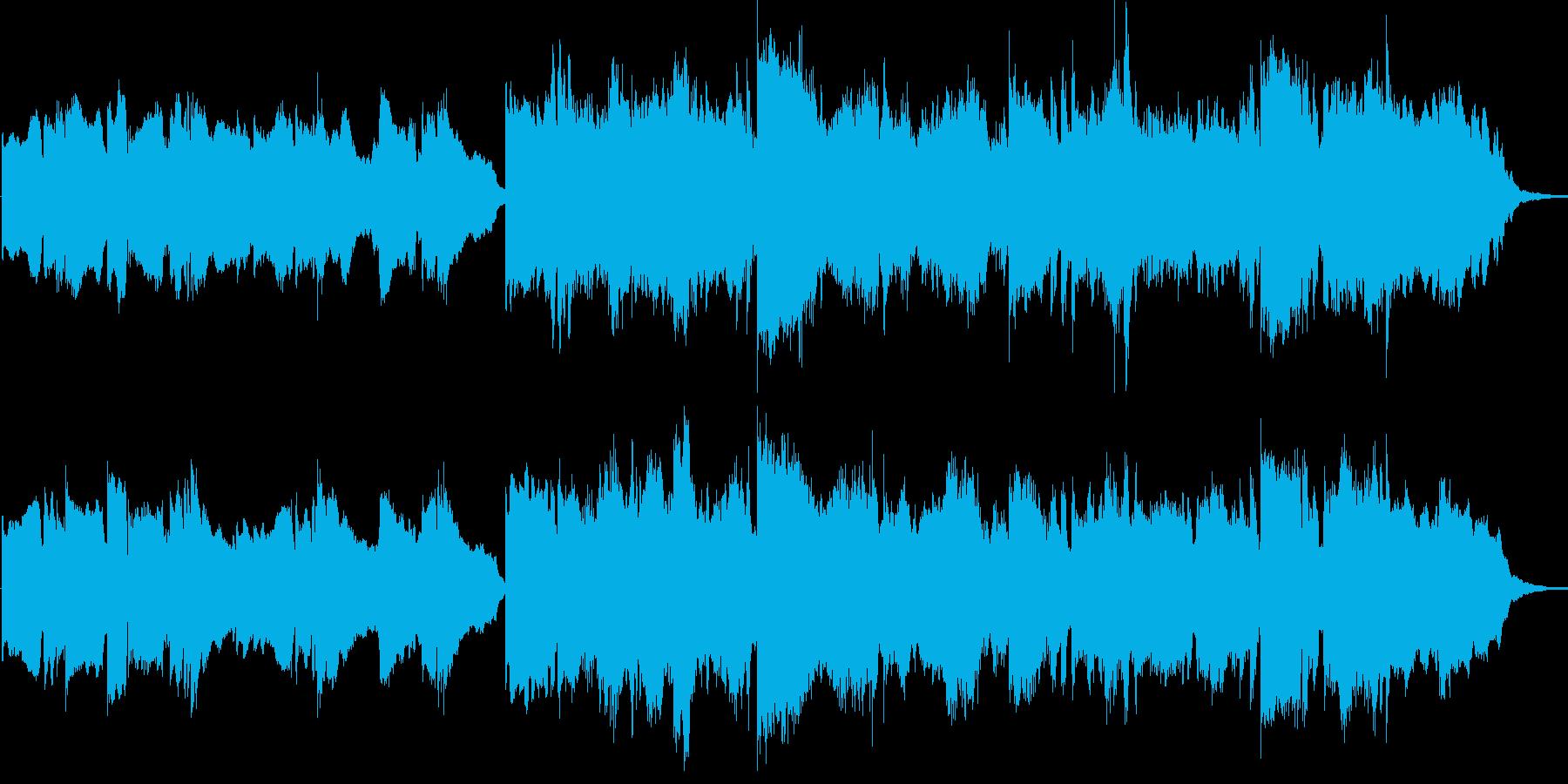 郷愁を感じるスローでダイナミックなBGMの再生済みの波形