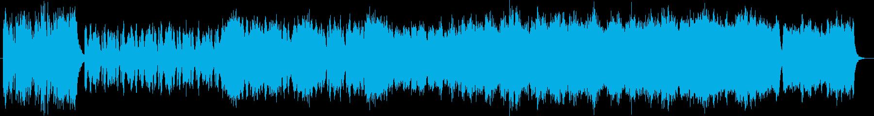 激しい曲調のオーケストラサウンドの再生済みの波形
