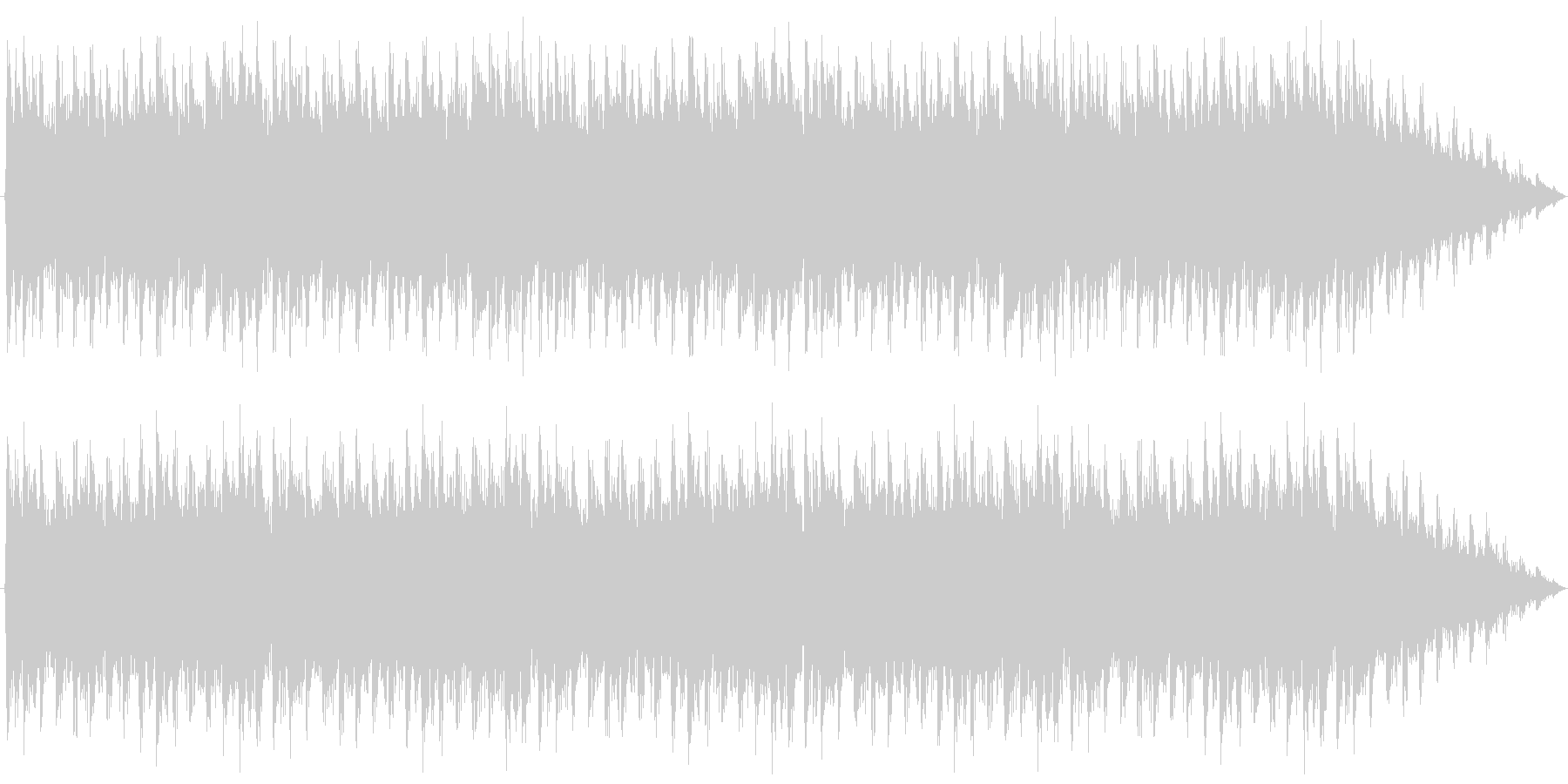 勇壮な合唱オーケストラ:編集版Aの未再生の波形