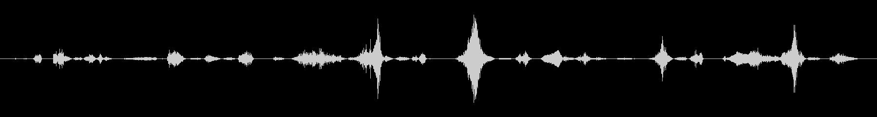 うめき声と不機嫌:男性のうめき声と...の未再生の波形
