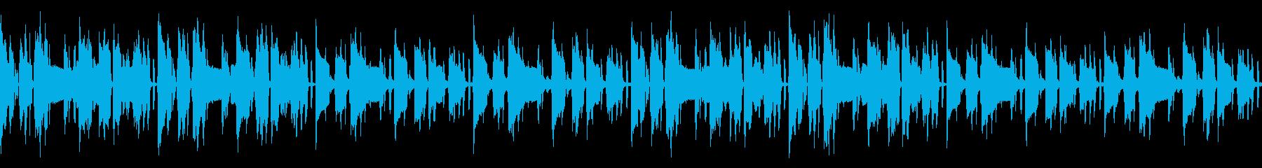 配信や映像用のシンプルで少し切ないループの再生済みの波形
