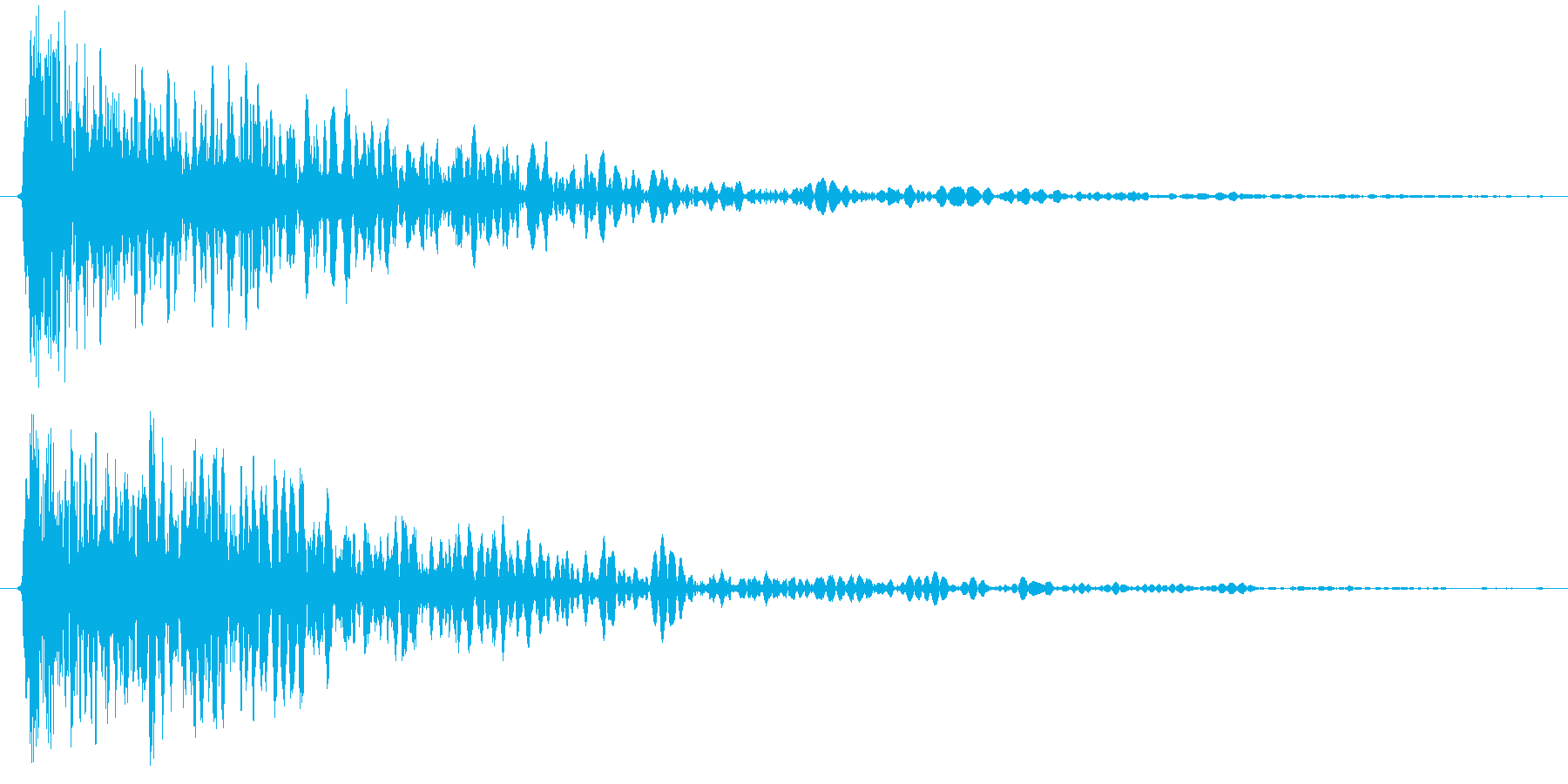 打撃音ですの再生済みの波形