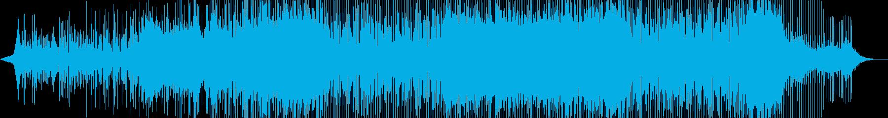 軽快なリズムのギターシンセポップの再生済みの波形