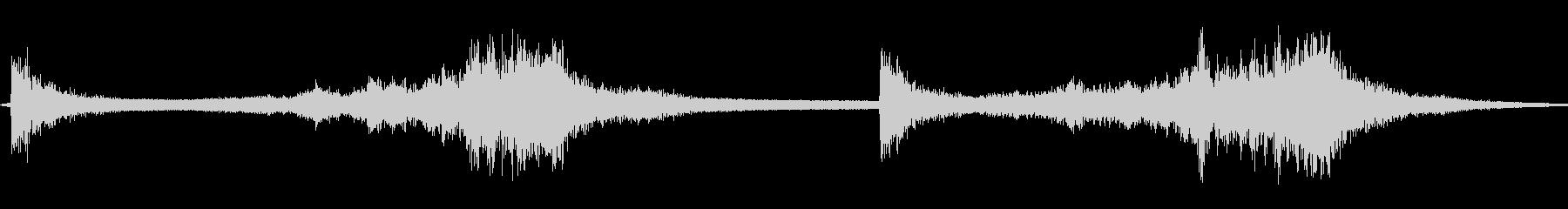 包丁:シャープな金属片。の未再生の波形