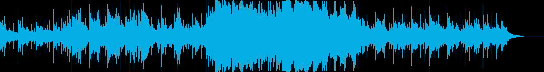 雨をイメージしたBGM・和テイストの再生済みの波形
