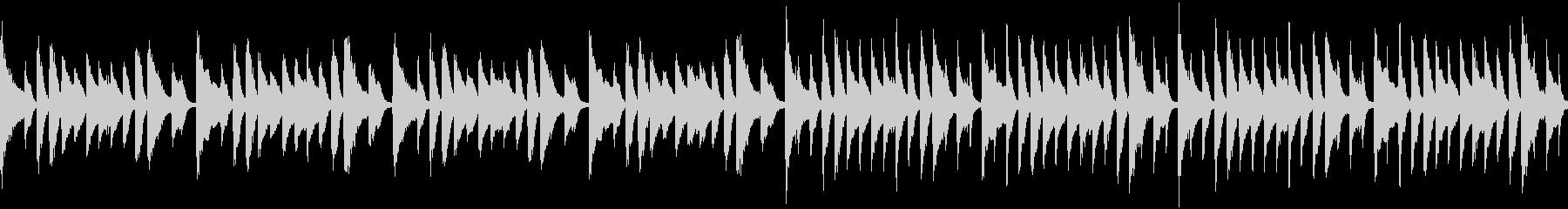 軽快なピアノループ曲の未再生の波形
