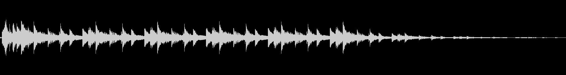 ウィンドチャイムメタルベルの未再生の波形