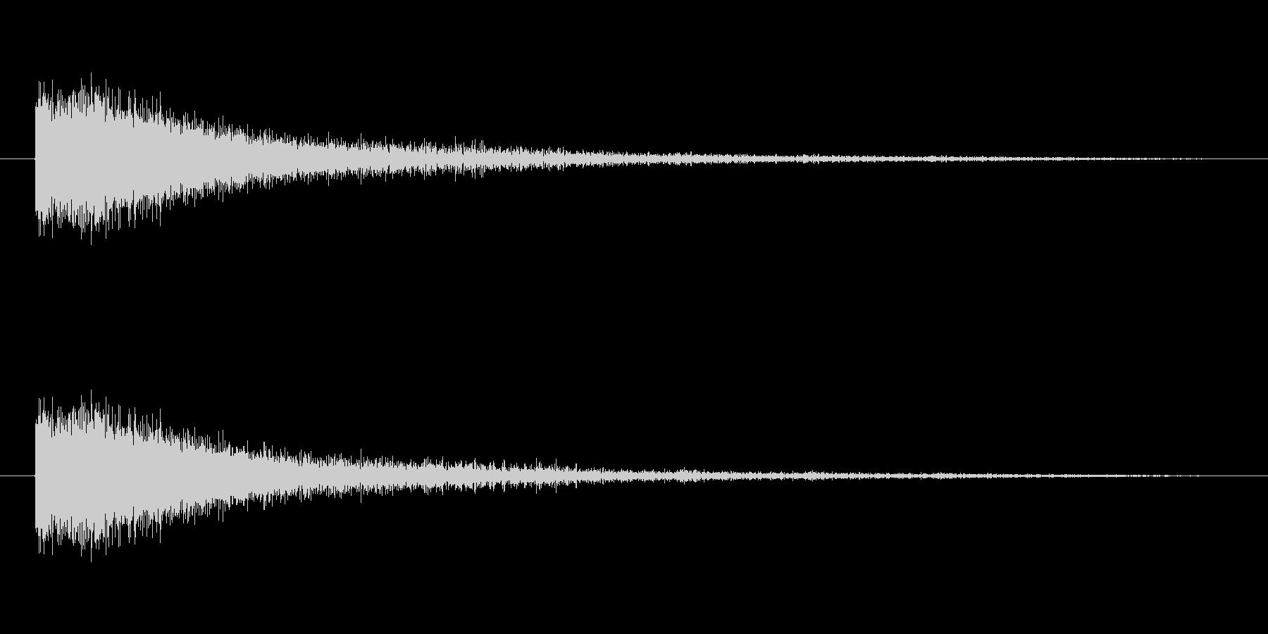 奇妙な風音の未再生の波形