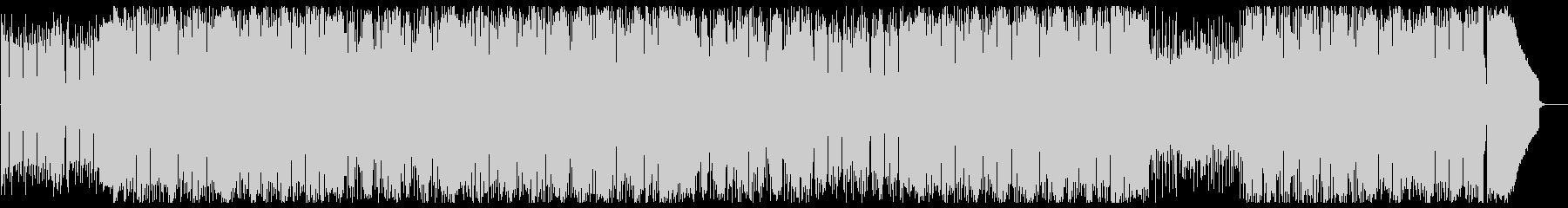 BassとPianoが勢いのある曲の未再生の波形