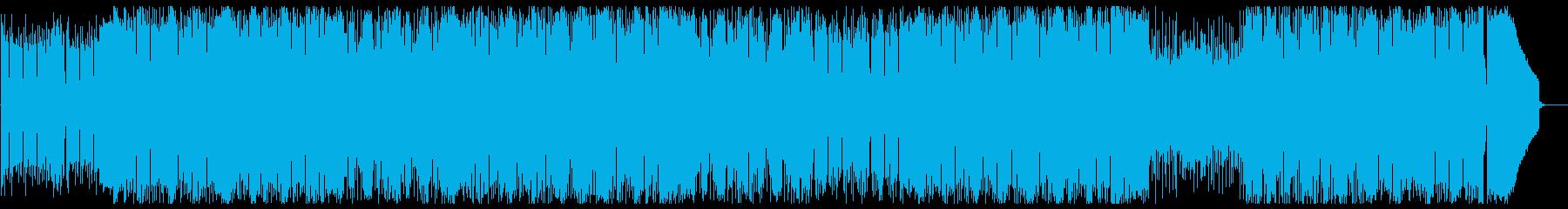 BassとPianoが勢いのある曲の再生済みの波形