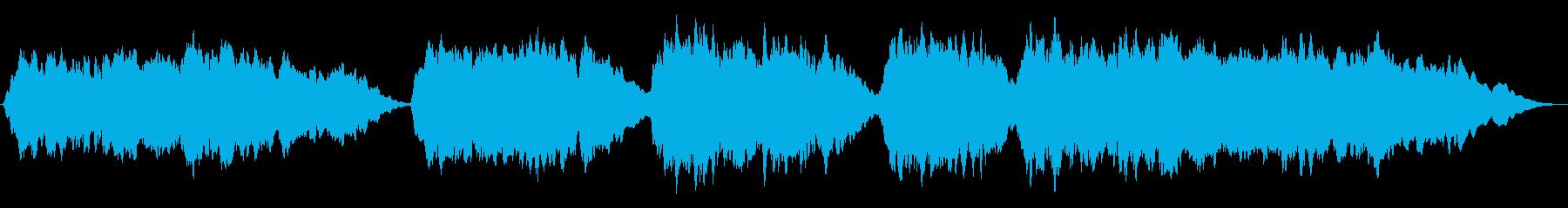 【アンビエント】オーロラ、幻想的な曲の再生済みの波形