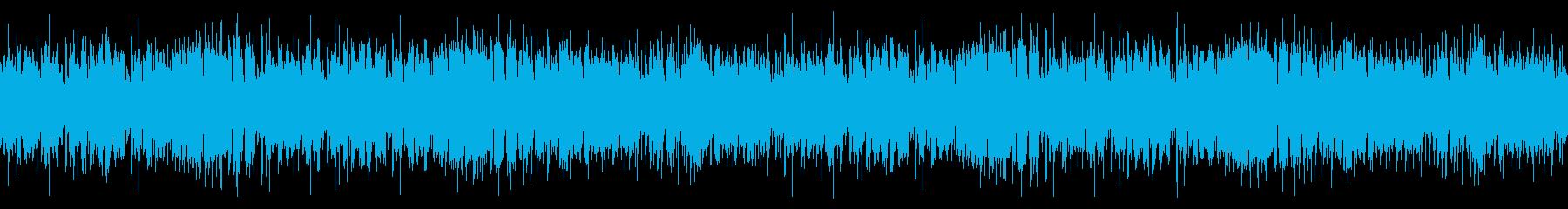 陽気で楽しいカントリー調のBGMの再生済みの波形
