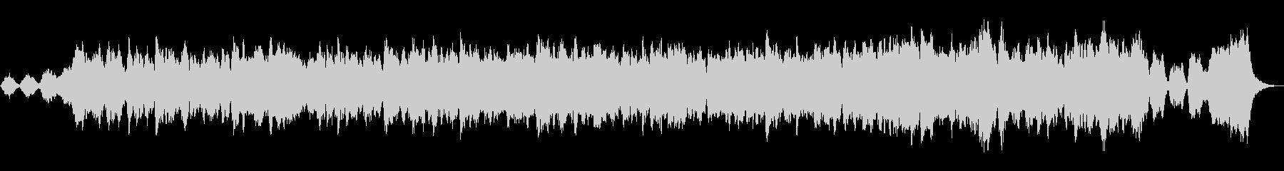 トランペットとストリングスの温かい協奏曲の未再生の波形