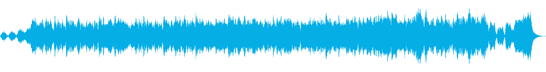 トランペットとストリングスの温かい協奏曲の再生済みの波形