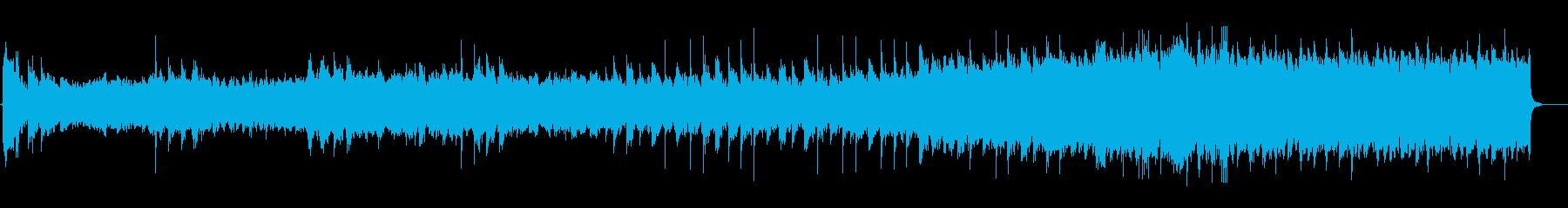 レコードのようなサウンドのホラー曲の再生済みの波形