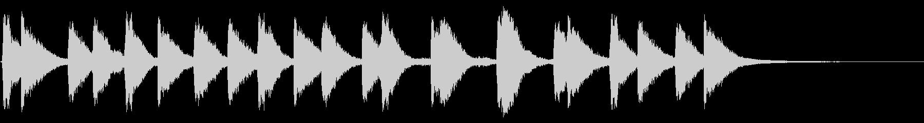 メルトン教会、2つの鐘:リンギングの未再生の波形