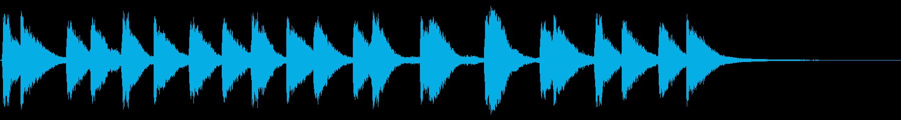 メルトン教会、2つの鐘:リンギングの再生済みの波形
