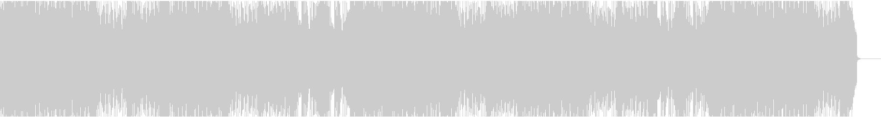 和風ハードロックのインストの未再生の波形