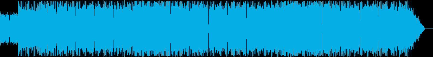 ヘヴィメタルを用いた行進曲モチーフの再生済みの波形