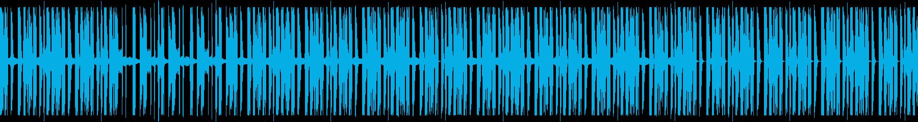 緊張感の漂う怪しいランダムビートの再生済みの波形