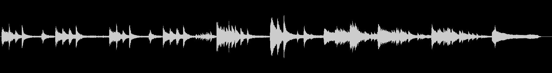 ピアノソロアドリブ4度積みの未再生の波形