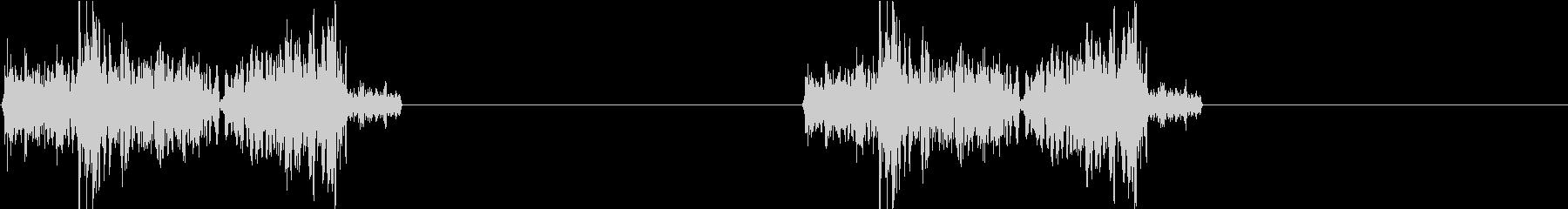 DJプレイ スクラッチ・ノイズ 72の未再生の波形