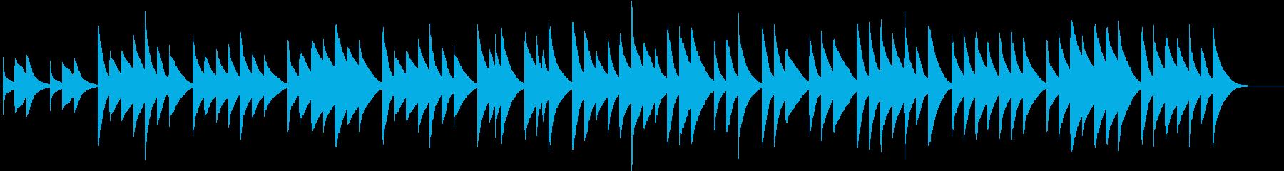 チェレスタの音色で作ったゆったりとした曲の再生済みの波形