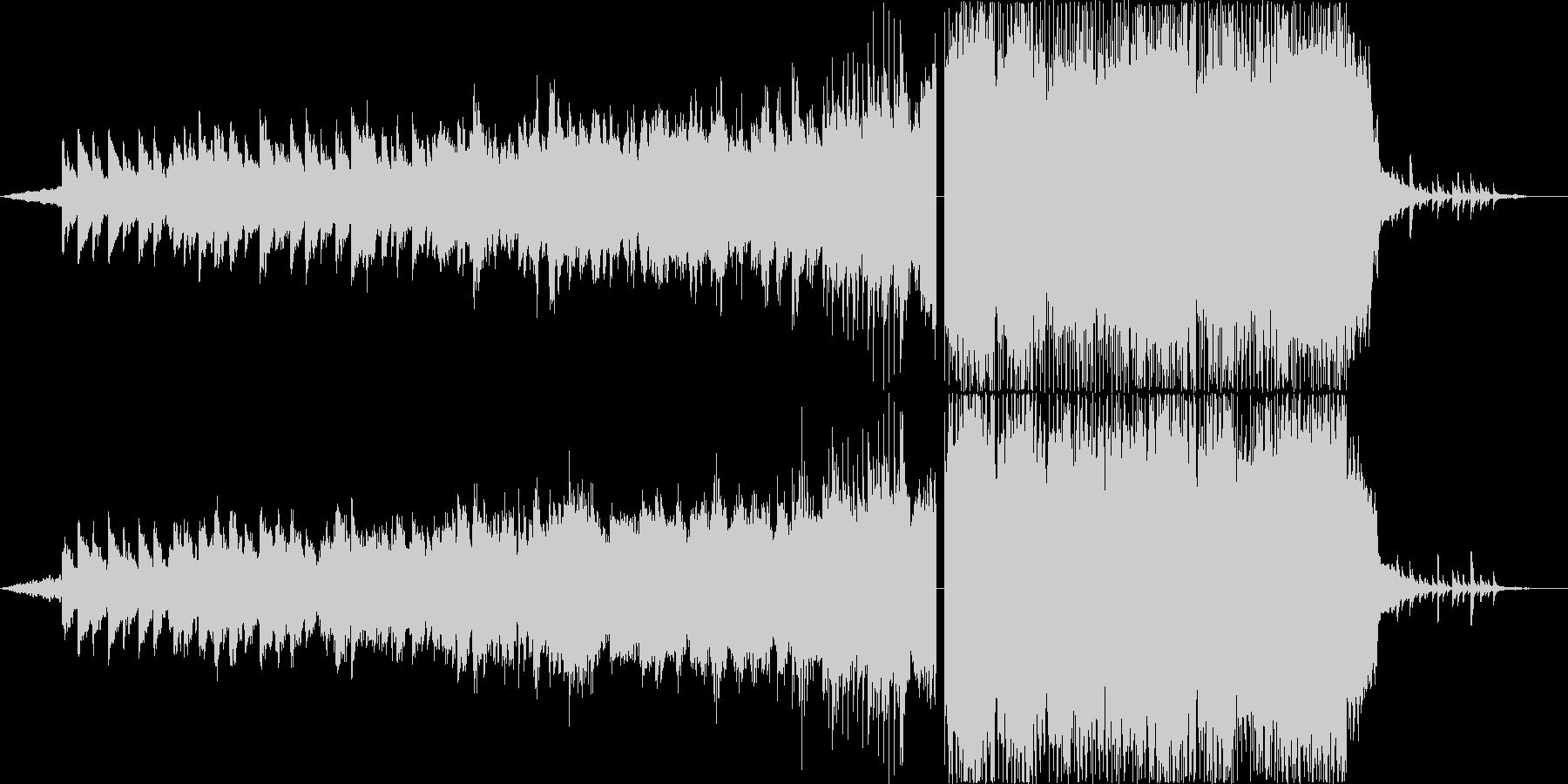 抽象的で明るいオルタナティブロックの未再生の波形
