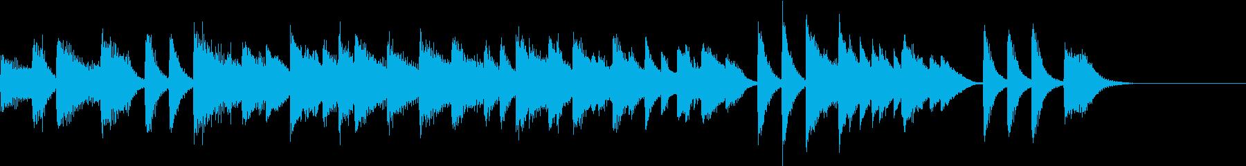 君が代を大胆アレンジしたピアノジングルの再生済みの波形