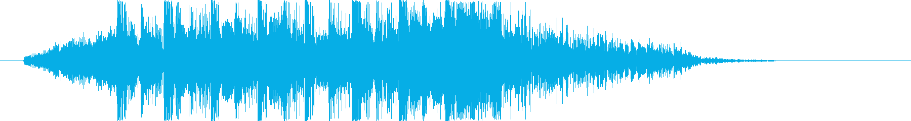 エレクトでダンサンブルなジングルの再生済みの波形