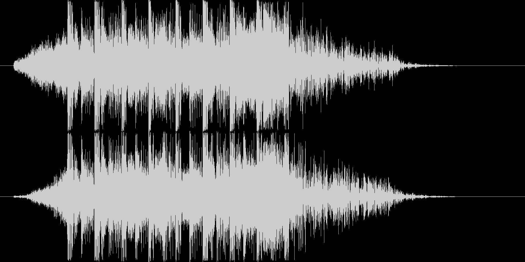 エレクトでダンサンブルなジングルの未再生の波形