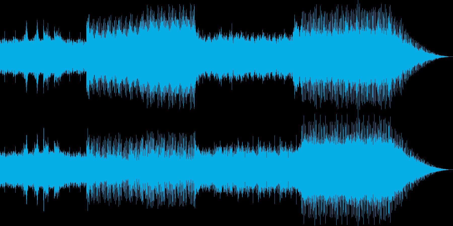 ダークなハードロックサウンドの再生済みの波形