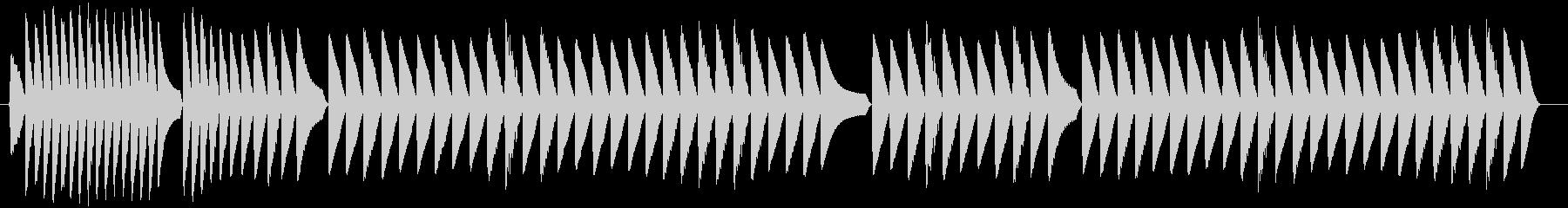 トーンラピッドシーケンスサンプルホールドの未再生の波形
