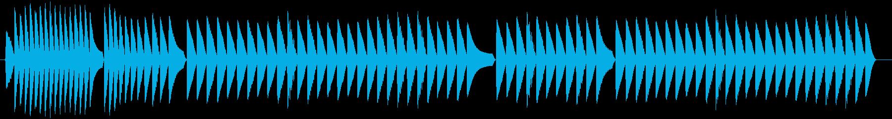 トーンラピッドシーケンスサンプルホールドの再生済みの波形