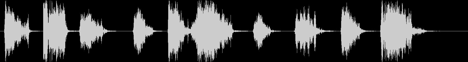 スカイ、ヘビーランブル、ミディアム...の未再生の波形