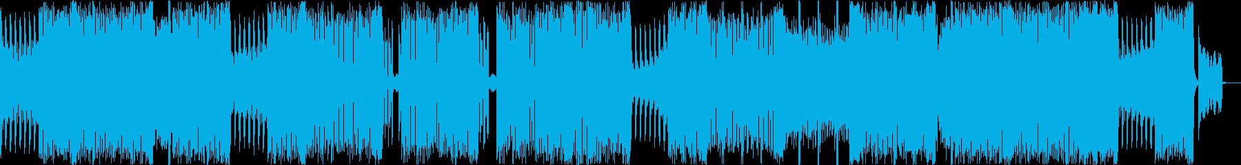 ポップでかわいいエレクトリックBGMの再生済みの波形