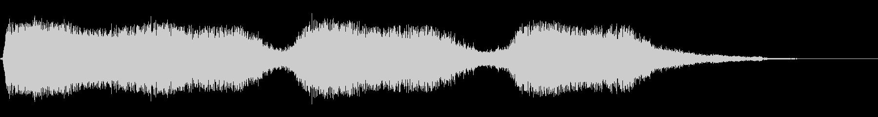 ヒュウーン(乗り物の音のような効果音)の未再生の波形
