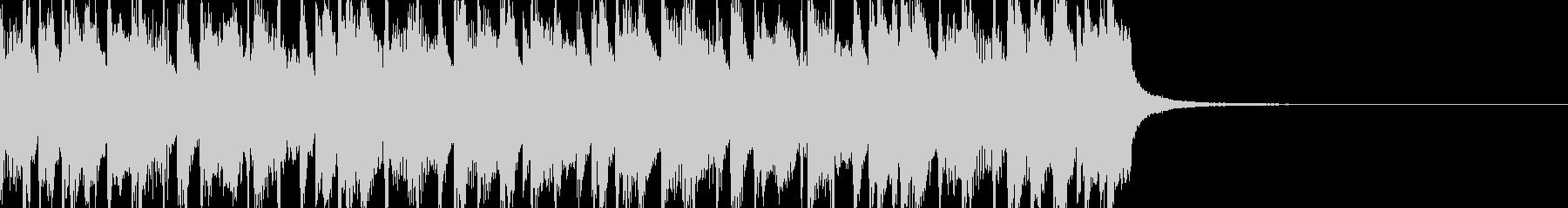 おしゃれで疾走感のあるピアノBGMの未再生の波形