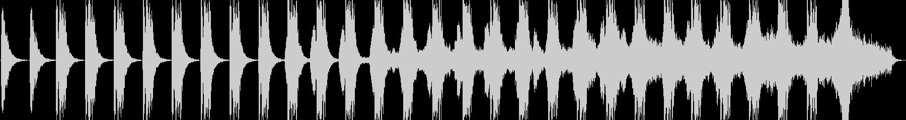 戦闘向けダークな雰囲気のBGMの未再生の波形