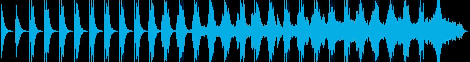 戦闘向けダークな雰囲気のBGMの再生済みの波形