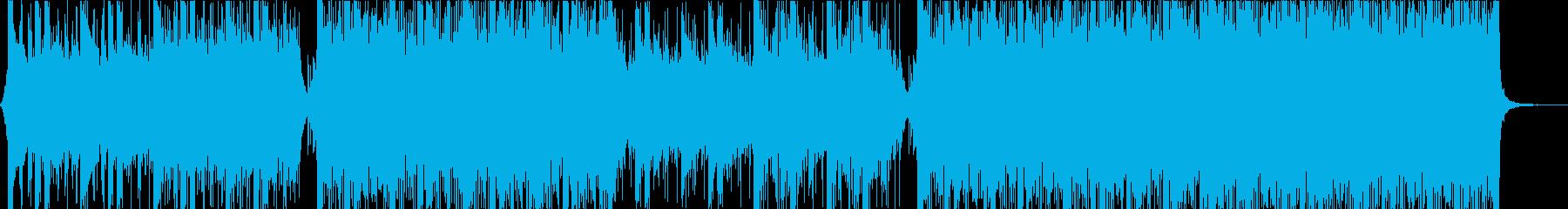 ポジティブなCM映像向けコーポレート楽曲の再生済みの波形