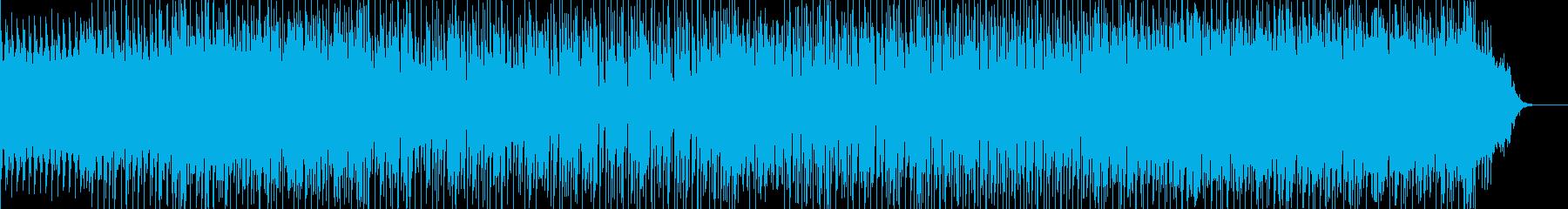 16分刻みのコード進行が印象的なBGMの再生済みの波形