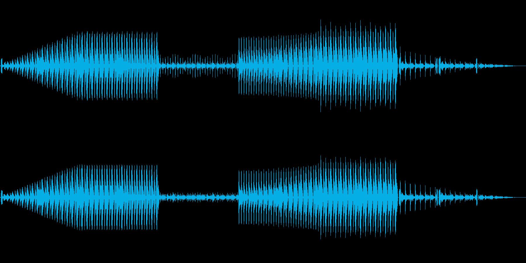 調子の変わらないシンプルなテクノの再生済みの波形
