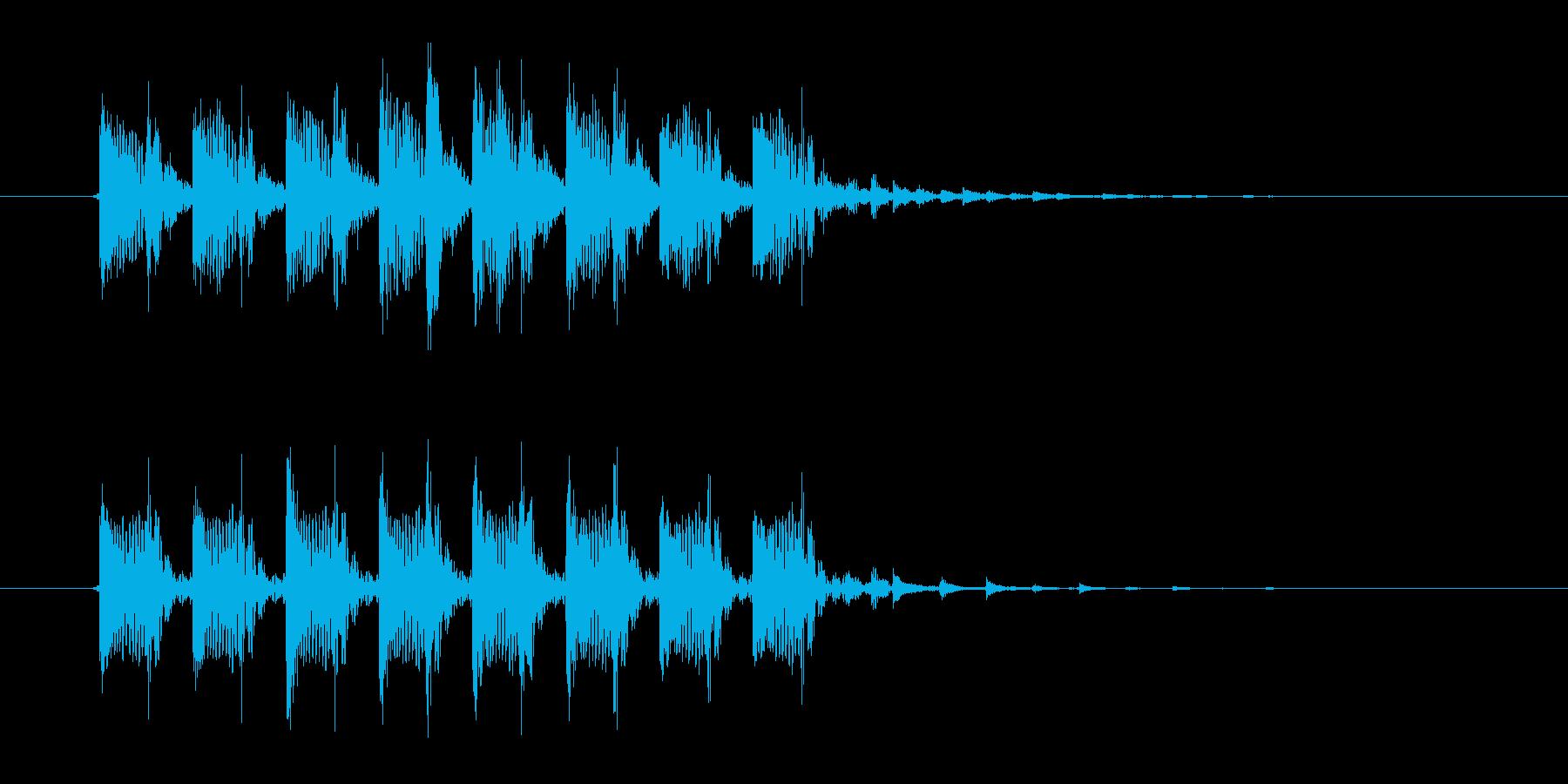 ロボットテクノポップジングルの再生済みの波形