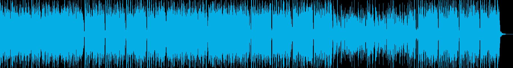 明るく楽し気なアイリッシュっぽい曲の再生済みの波形